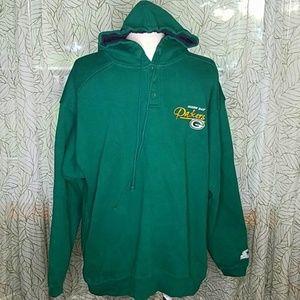 Starter Green bay packers hoodie large Men Bin11